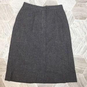 Pendleton Gray Vintage Wool Skirt | 14